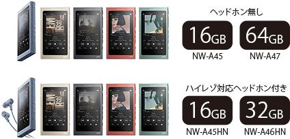 NW-A40シリーズ WALKMAN ウォークマン NW-A47 NW-A46HN NW-A45HN NW-A45