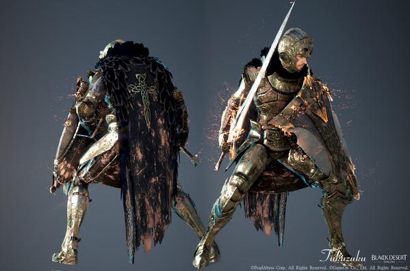 黒い砂漠 ウォーリア コルネリア武器・衣装セット