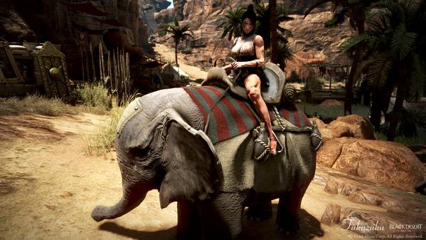 黒い砂漠 くノ一 荷車象