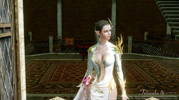 ArcheAge エルフ ロータスドレス アバター