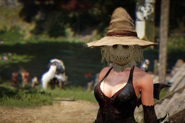 黒い砂漠 案山子仮面 ブラッディハロウィンドレス