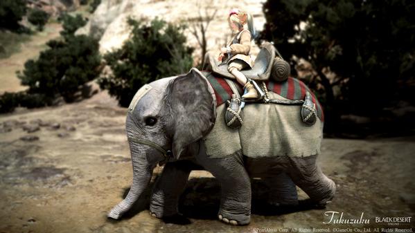 黒い砂漠 シャイ フローリン料理服 荷車象