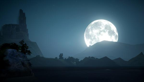 黒い砂漠 クロン城 月