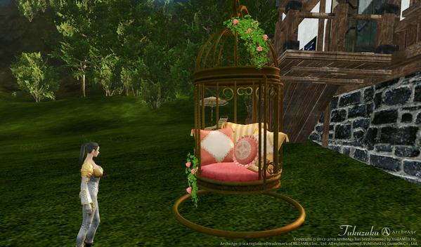 ArcheAge エルフ 鳥籠風ベッド