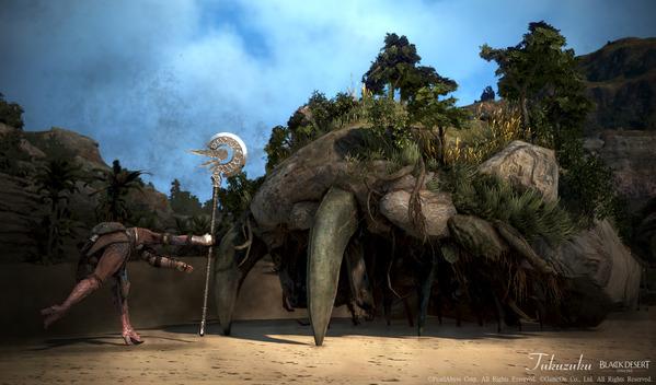 黒い砂漠 ガーディアン 岩木石殻カニ