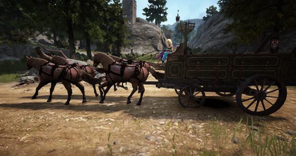 黒い砂漠 商団馬車