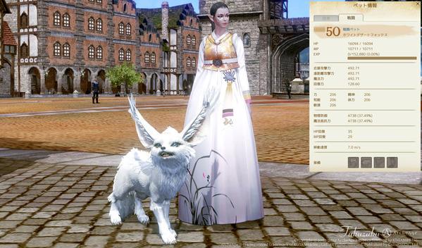 ArcheAge 戦闘ペット ホワイトデザートフォックス
