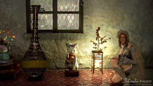 黒い砂漠 招き猫、和風灯篭、筑前琵琶