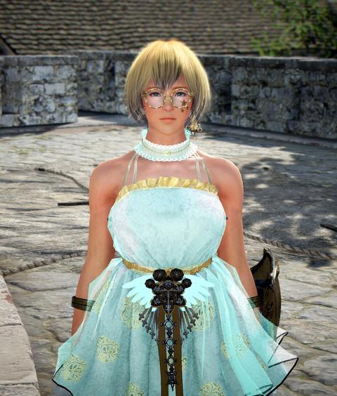 黒い砂漠 ヴァルキリー ゴシックドレス 染色