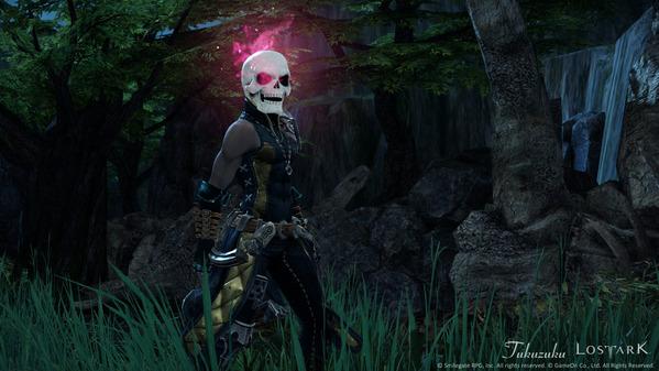 LostArk 奇妙なハロウィンの頭蓋骨アバター