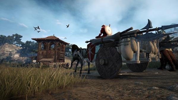 黒い砂漠 白い荷馬車