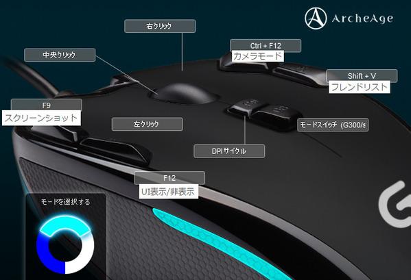 ArcheAge Logiccol G300r マウス設定01