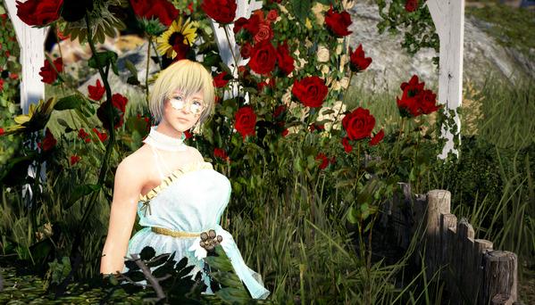 黒い砂漠 ゴシックドレス 薔薇