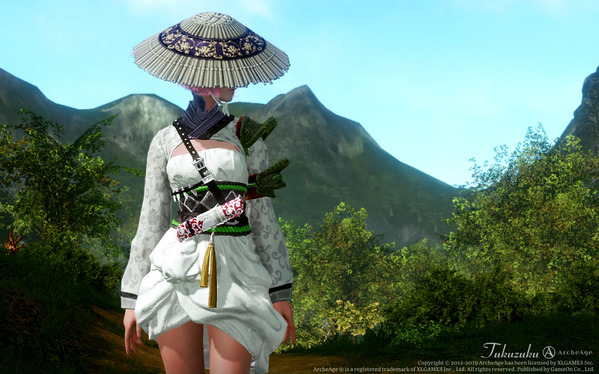 ArcheAge エルフ 純な白椿の道士服 アバター