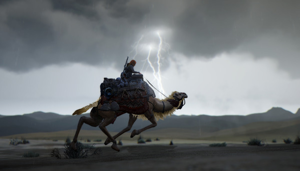 黒い砂漠 砂漠 雨 落雷