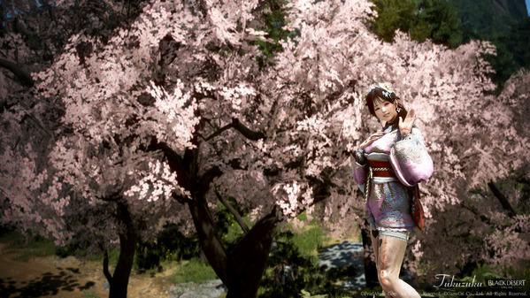 黒い砂漠 ウィッチ 浴衣衣装 桜装飾