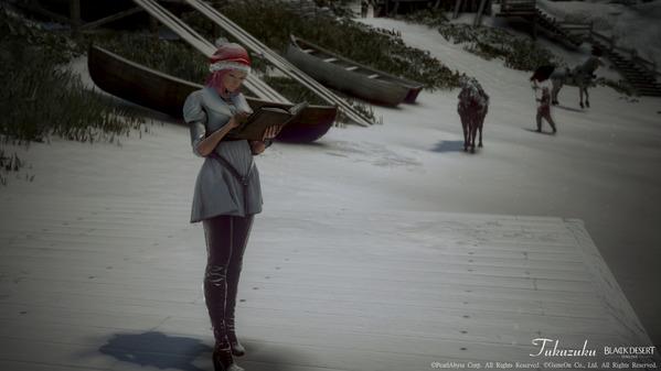 黒い砂漠 レンジャー サンタキャップ 雪