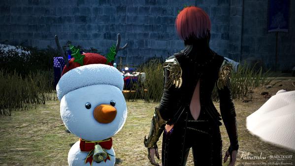 黒い砂漠 クリスマス しんしん雪の花村