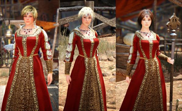 黒い砂漠 カルフェオン貴族ドレス