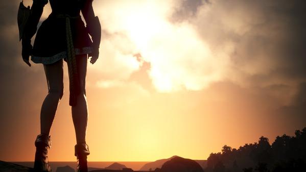 黒い砂漠 ヴァルキリー 夕陽