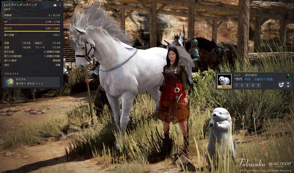 黒い砂漠 華麗な冒険箱 8世代馬 ラッコ