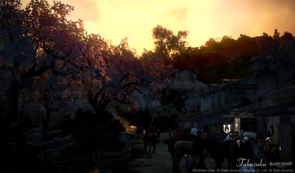 黒い砂漠 ベリア村 桜