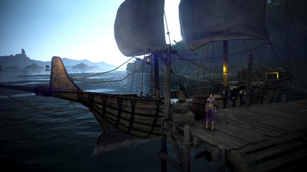 黒い砂漠 古いバルタリ帆船