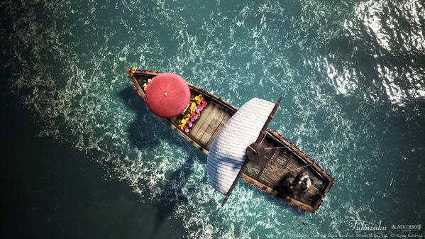 黒い砂漠 [EV] 花満開の漁船飾り