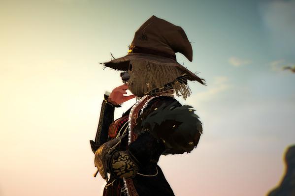 黒い砂漠 案山子仮面 狼鼻飾り