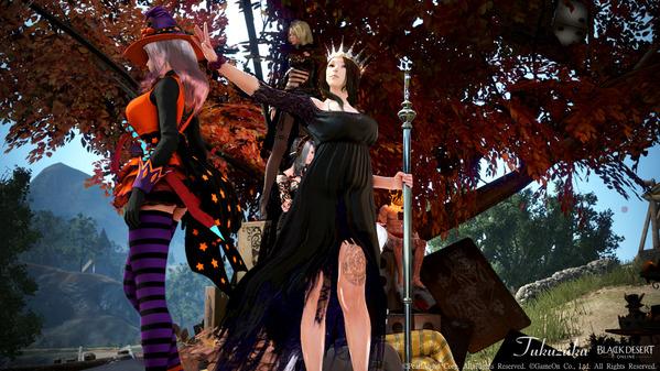 黒い砂漠 ハロウィン魔女の撮影会19
