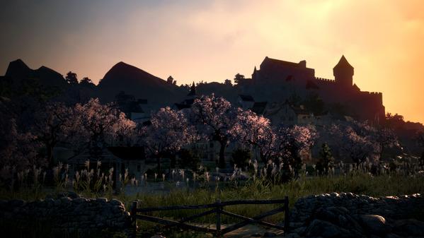 黒い砂漠 桜並木