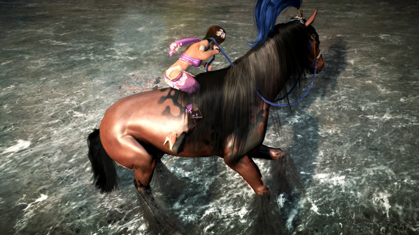 黒い砂漠 海岸 馬 ドリフト