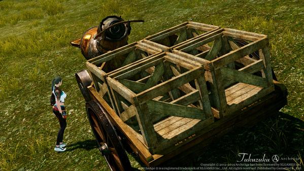 ArcheAge ブルーソルト商会クエスト 農業用トラクター