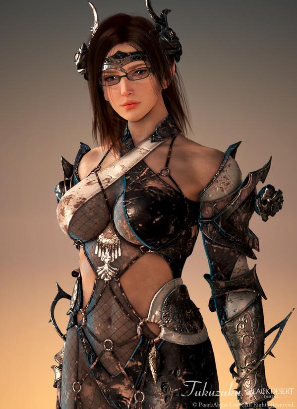 黒い砂漠 ダークナイト [DK] チェックメイト武器、衣装セット