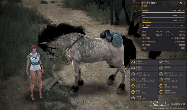 黒い砂漠 6世代馬