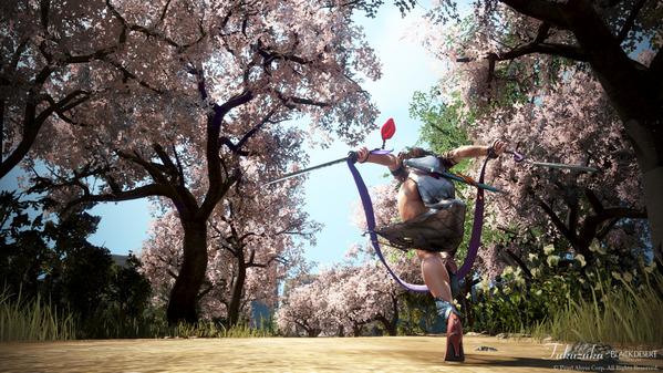 黒い砂漠 ラン 白影華 アバター 桜