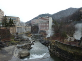 定山渓温泉の朝