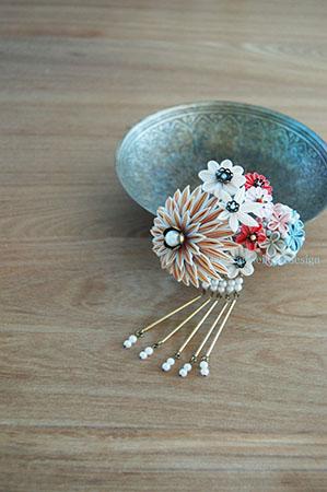 剣菊に小毬と小花 櫛