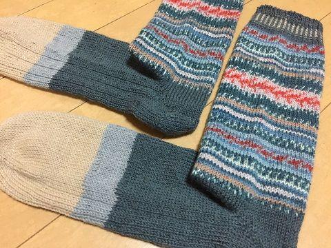 【サイズメモ】つま先から編むくつ下[ショートロウ|27.5~28cm]