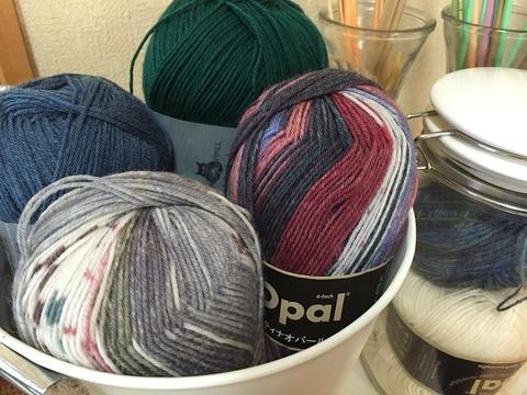 手編み靴下を0号で編むか?1号で編むか?