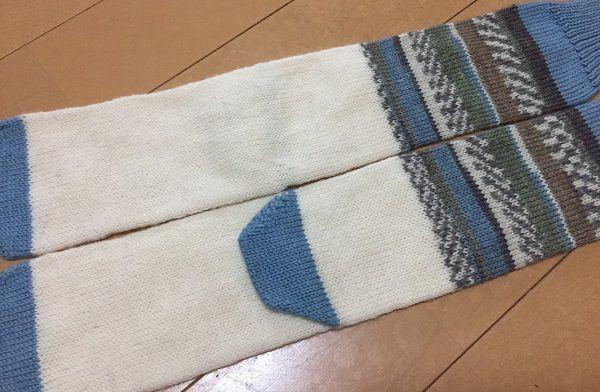 3種類の糸で編むくつ下