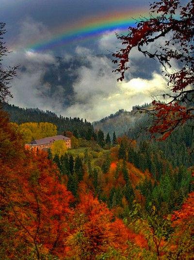 Rainbowabovefallcolors