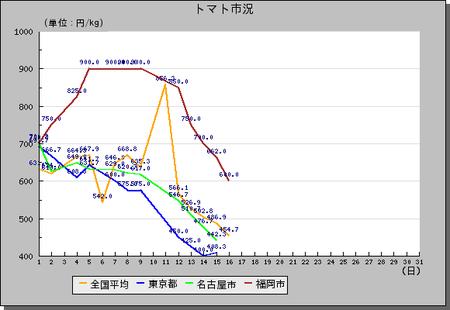 トマトH22-10月相場グラフ