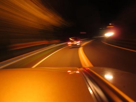 夜中ドライブ