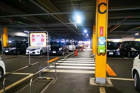 ドンキの駐車場