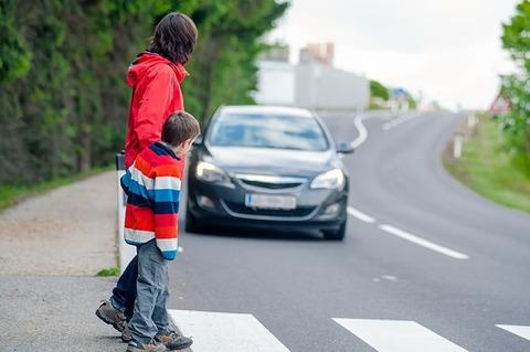 歩行者のくせに車に道譲奴wwwwwwww