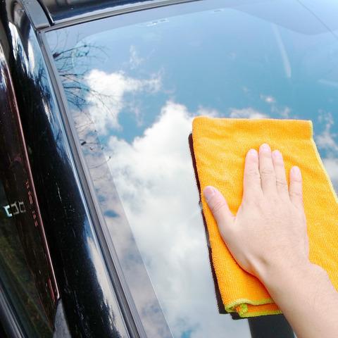 今朝の5時に軽自動車を洗車