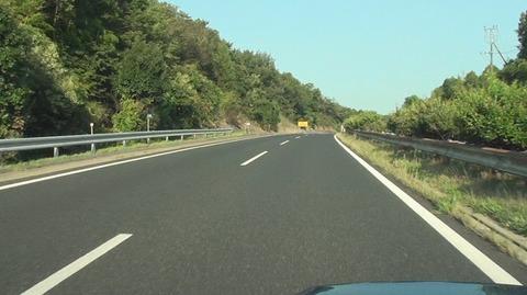 ドラレコ付けて法定速度50キロの道