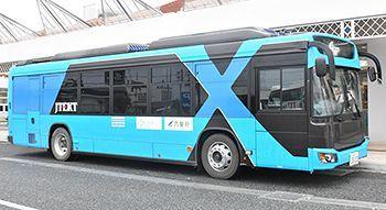 大型路線バスを自動運転
