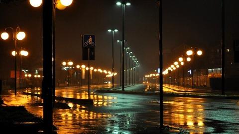 雨夜の運転